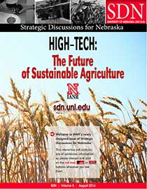 image of SDN 2014 magazine cover High Tech: The Future of Sustainable Agriculture