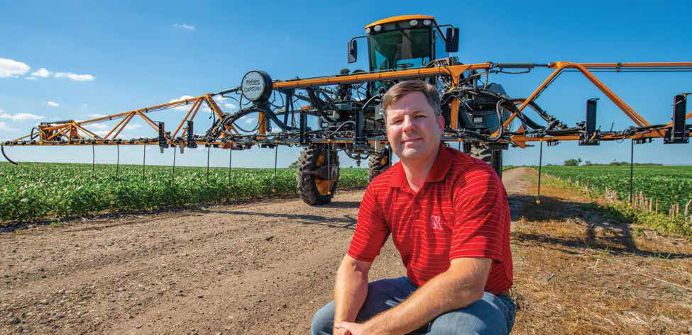 The self-propelled agricultural sprayer is one of the applications for Joe Luck's new application control system.